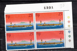 FIJI Scott # 271 MH Plate Block - Takia - Fiji (...-1970)