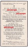 Oorlog Guerre Van Den Wyngaert Lier Bombardement Te Mortsel 5 April 1943 Oude Gode Jozef En Florent - Andachtsbilder