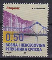 BOSNIA AND HERZEGOVINA  2021,SERBIA BOSNIA,TOWN ZVORNIK,,BRIDGE,DEFINITIVE,MNH - Bridges