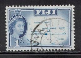 FIJI Scott # 171 Used - QEII & Map 1 - Fiji (...-1970)