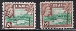 FIJI Scott # 159 Used X 2 - QEII & River Scene - Fiji (...-1970)