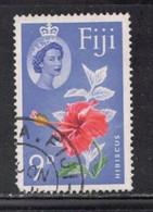 FIJI Scott # 180 Used - QEII & Flower - Hibiscus - Fiji (...-1970)