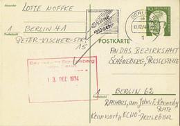 Germany / Berlin - Ganzsache Postkarte Echt Gelaufen / Postcard Used (g1039) - Postkarten - Gebraucht