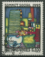 UNO Genf 1995 Soziale Entwicklung Gemälde F.Hundertwasser 262 Gestempelt - Gebraucht