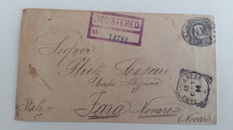 1914 REGISTERED NEW YORK TIME SQUARE-ITALY+c.5+8 Cancles-O899 - Event Covers