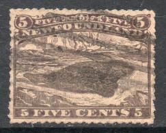 TERRANOVA Sello Usado FOCA ARPA X 5 C. Color Marrón Año 1866 - 1865-1902