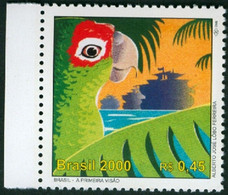 BRAZIL #2740 C  - THE FIRST SIGHT - 500 YEARS OF THE DISCOVERY OF BRAZIL  -  BIRDS - PARROT - SHIP  2000 MNH - Ungebraucht