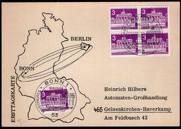 Deutschland Berlin - 1963 - Brief - Karte - Ersttagskarte - A1RR2 - Briefe U. Dokumente