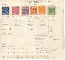 SAMOA Serie X 6 Sellos Nuevos PRIMERA EMISIÓN Años 1877-82 - Samoa