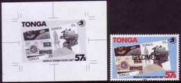 Tonga 1989 Proof + Specimen - Space Shuttle, Moon Cover - Apollo - Oceania
