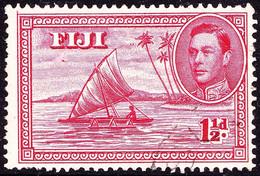 FIJI 1942 KGVI 1½d Carmine Die II Perf 14 SG252b Used - Fiji (...-1970)