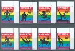 REPUBLIQUE RWANDAISE - 1976 - MNH/*** - OLYMPIC GAMES MONTREAL - COB 761-768 Yv 737-744 - Lot 23779 - 1970-79: Nuovi
