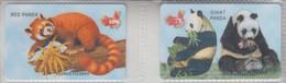 CHINA BEAR PANDA SET OF 2 PHONE CARDS - Giungla