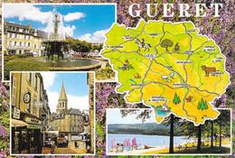 23 - Guéret - Carte Géographique - Multivues - Guéret