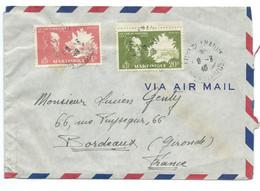 SP ENVELOPPE FORT DE FRANCE MARTINIQUE POUR BORDEAUX / 1946 / VICTOR SCHOELCHER - Briefe U. Dokumente
