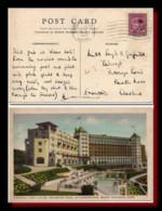 1947 Canada Postcard Chateau Lake Louise Posted To England - Postal History