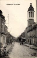 CPA Courseulles Sur Mer Calvados, La Rue De L'Église - Other Municipalities