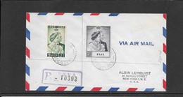Fiji 1948, Silver Weddind On Cover To New York Via San Francisco( Ref 2013) - Fiji (...-1970)