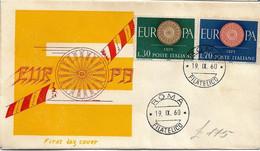 Rara Fdc Venus: EUROPA 1960; No Viaggiata; AF_Roma - FDC