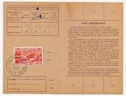 Carte D'abonnement Aux Timbres-poste Spéciaux Français, Affr 500F P.A Marseille, Obl Colmar R.P 17/1/1952 - 1927-1959 Brieven & Documenten