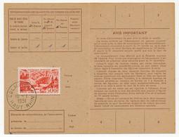 Carte D'abonnement Aux Timbres-poste Spéciaux Français, Affr 500F P.A Marseille, Obl Colmar R.P 15/1/1951 - 1927-1959 Brieven & Documenten