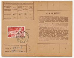 Carte D'abonnement Aux Timbres-poste Spéciaux Français, Affr 200F P.A Char - Obl Colmar R.P 15/9/1947 - 1927-1959 Brieven & Documenten