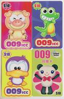 Singapore Old Phonecards Calling Card Prepaid ICC 4 Cards - Giungla