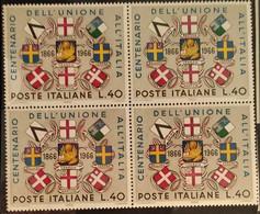 ITALIA 1966 CENTENARIO UNITA' D'ITALIA - Blocchi & Foglietti