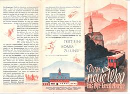 Reiseprosekt Osterzgebirge Schellerhau Zaunhaus Zinnwald Geising Altenberg 1932 Faltblatt 6 Fach Ca 10x21 Cm Gefaltet - Saxe