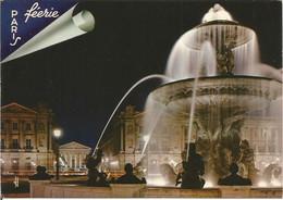 PARIS.  PRESTIGE DE LA NUIT.  PLACE DE LA CONCORDE.  (scan Verso) - Parigi By Night
