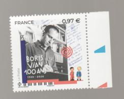 FRANCE / 2020 / Y&T N° 5383 ** : Boris Vian X 1 BdF D - Nuovi