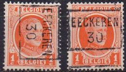 5291B/C EECKEREN 30 - Roller Precancels 1930-..