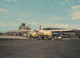 State Of Jersey Airport BT Shell Petrol Lorry Filling Plane Postcard - Aerodromi