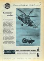 Publicité Papier LUCAS POMPE INJECTION HELICOPTERE Janvier 1961 P1030066 - Publicidad