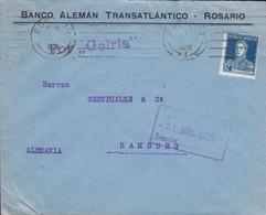 Argentina BANCO ALEMÁN TRANSATLANTÍCO. ROSARIO 1925 Cover Letra HAMBURG Schiffspost Ships Mail Por 'GELRIA' - Covers & Documents