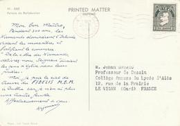 Carte Publicité Papier Fidelis MBM ARCHES VI Eire 1958  à Prof Dessin Le Vigan Gard - Covers & Documents