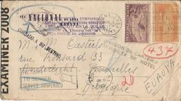 ENVELOPPE  AVEC CENSURE  Envoyée De  NACIONAL DE CUBA  HAVANA  En 1941-1942  à  ANDERLECHT  BRUXELLES - Covers & Documents
