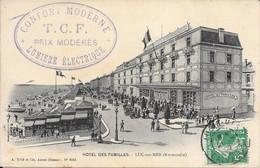 14 Luc-sur-mer. Hotel Des Familles Avec Belle Cachet De L'hotel. Envoyé 21-7-1909 - Luc Sur Mer