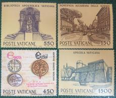 1984 - Vaticano - Istituzioni Culturali - Serie  Quattro Valori - Nuovi - Nuovi