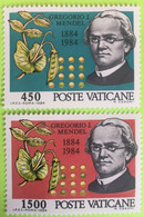1984 - Vaticano - Gregorio J. Mendel - Serie  Due Valori - Nuovi - Nuovi