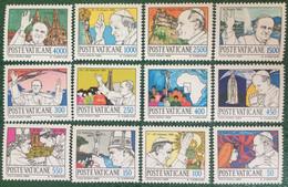 1984 - Vaticano - I Viaggi Del Papa Nel Mondo  - Serie 12 Valori - Nuovi - Nuovi