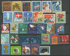 Denmark Christmas Seal 1918 / 1973 ☀ MNH (**) Lot OG - Ungebraucht