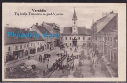 Varaždin, Trg Kralja Tomislava, Mailed 1935 - Croacia
