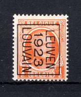 PRE75B MNH** 1923 - LEUVEN 1923 LOUVAIN - Tipo 1922-31 (Houyoux)