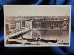 """Photo CDV Garcin à Genève - Genève Vapeur """"Helvetie"""", Quai Du Mont Blanc, Circa 1880 L566D - Anciennes (Av. 1900)"""