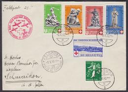 CH Pro Patria 1940 , MISCHFRANKATUR , B5-6 , SONDERFLUG 9.MAI.40, FELDPOST - Covers & Documents