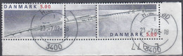 ++Denmark 1998. Bridge Coprint. Michel 1180-81. Cancelled - Used Stamps