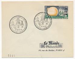 """REUNION - Enveloppe Affr 12F CFA Pleumeur Bodou - Cachet """"Visite De L'Escadre à La Réunion"""" - Saint Denis - 17/11/1963 - Lettres & Documents"""