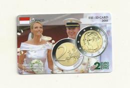 CARTE DE COLLECTION EUROSYMBOLS INSTITUTE ESI ID CARD MONACO 2011. - Monaco