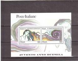 2000 AVVENTO ANNO 2000 FOGLIETTO LA MEDITAZIONE L'ESPRESSIONE - Blocchi & Foglietti